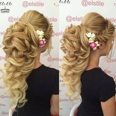 Lovely bridal look Make up, hairstyles… Graduation Hairstyles With Cap, Cute Hairstyles For Short Hair, Bride Hairstyles, Bridesmaid Hair, Prom Hair, Wedding Hair And Makeup, Bridal Hair, Special Occasion Hairstyles, Natural Hair Styles