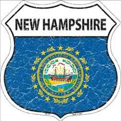 HS-137 New Hampshire State Flag Highway Shield Aluminum Metal Sign