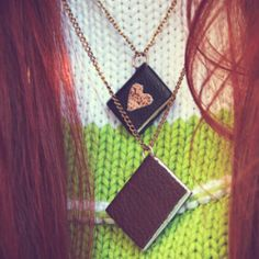 Learn how to make this totally adorable miniature book necklace!