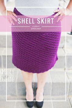 Curvy Crochet Patterns for Plus Sizes - Shell Skirt