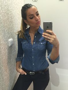 #denim shirt