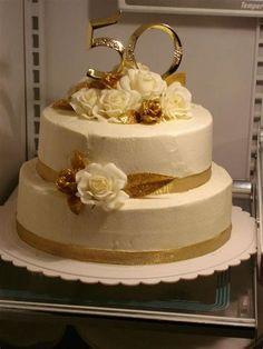 50th Anniversary Cake by Nancy