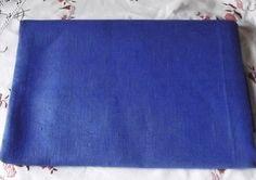 Lovely Swedish Vintage Dark Blue/Cobalt Linen by LinenFactory