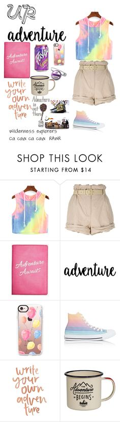 """""""UP"""" by sophiekilzer ❤ liked on Polyvore featuring Moschino, Express, Casetify, Converse and Disney"""