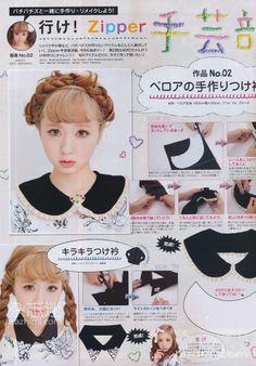 DIY collars Japanese Magazine ZIpper 12/11