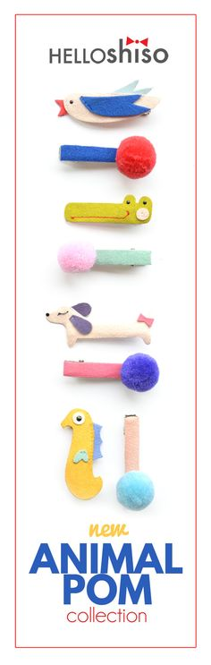 new hello shiso animal pom spring collection