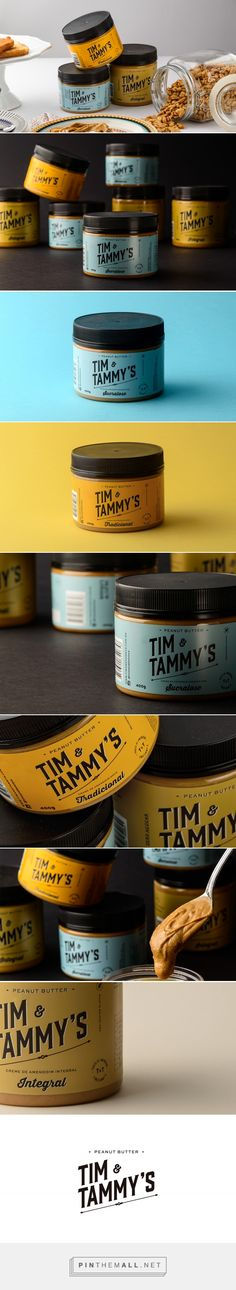 Tim & Tammy's - Peanut Butter - Packaging of the World - Creative Package Design Gallery - http://www.packagingoftheworld.com/2017/05/tim-tammys-peanut-butter.html