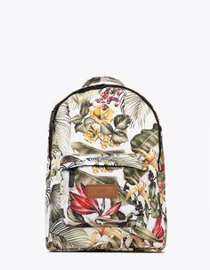 Tropical Backpack White