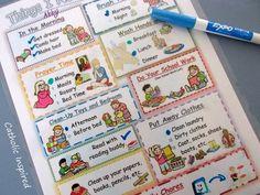 Responsibility Chart kid Inspired