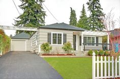grey house and black trim/shutters - this home has great curb appeal!