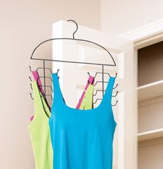 Space-saving cami hangers are great for organizing strap tops, cam is, swimsuits, sundresses and other delicates. Solutions.com