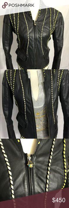 6802decc64 Roberto Cavalli Leather Jacket size 42 made Italy Beautiful leather jacket  for women size 42 European