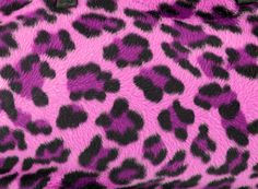 Picture of Pink and black faux fur leopard print backgound stock photo, images and stock photography.
