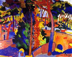'Landschaft bei L Estaque', öl auf leinwand von André Derain (1880-1954, France)