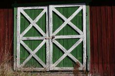 Double doors to the barn.