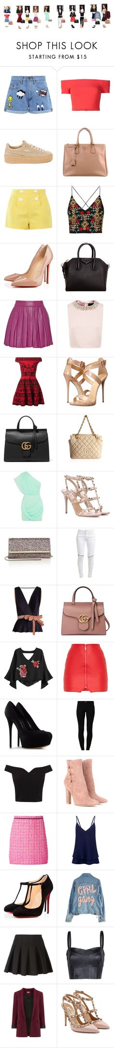 """""""Gabriela Forks- 1 a 8"""" by duda-909 ❤ liked on Polyvore featuring Maybelline, Paul & Joe Sister, Alice + Olivia, Puma, Prada, Boutique Moschino, Topshop, Christian Louboutin, Givenchy and Ted Baker"""