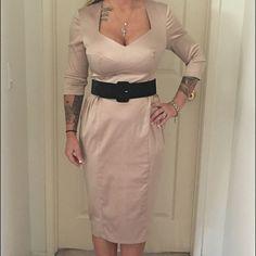 Pin-Up - Deadly Dames Beige Dress