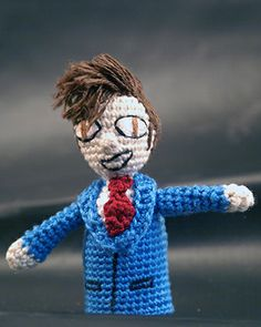Tenth Doctor finger puppet... Take 2