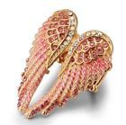 Angel Wings Stretch Ring Crystal Resizable Fashion Jewelry Antique Gold & Silver