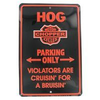 Choppers sign made in USA from aluminum.