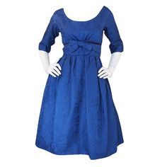 1950s Christian Dior London Silk Brocade Dress   From a collection of rare vintage day dresses at http://www.1stdibs.com/fashion/clothing/day-dresses/