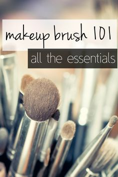 #makeup brush 101: which brushes do you need?