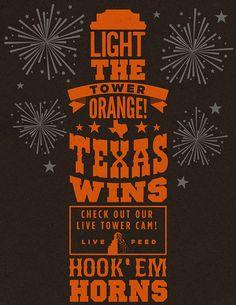 Light the tower orange! Texas wins!!!