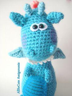 Crochet Pattern Amigurumi Dragon Dinosaur Pattern от AllSoCute