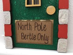 Elf door https://www.etsy.com/uk/shop/Roseybuddles #christmas #nadoligllawen #northPoledoor #elfontheshelfideas #christmasmagic