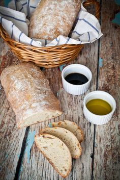 Homemade ciabatta bread that's crusty on the outside, chewy on the inside, and perfect for dipping in olive oil, eating with butter, or making into sandwiches.