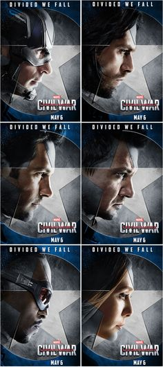 Whose side are you on? On #TeamCaptainAmerica, there is The Captain, The Winter Soldier,  Ant-Man, Hawkeye, Falcon and Scarlet Witch. Marvel's Captain America: Civil War is in theaters May 6, 2016!
