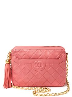 Pink Lambskin Quilted Camera from In Love With Luxury: Vintage Gifts on Gilt