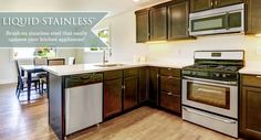 Transforming Your Kitchen On A Budget With Liquid Stainless Steel!