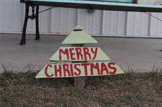 Wood Christmas Tree Yard Stake- Yard Art- Yard Decor- Christmas- Outdoor Decor…