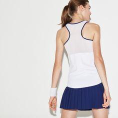 Lacoste Women s Sport Tennis Stretch Jersey Racerback Tank Top -  Ladybird Turkey Red Xxl Lacoste 239301aac