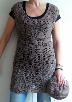 Lovely Crochet Tunic: free pattern (use google translate)