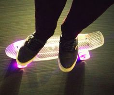 Led penny board totes awesome
