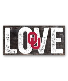 Oklahoma Sooners 'Love' Sign