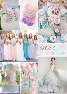 Pastels are beautiful for weddings