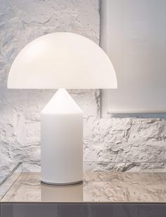 We are an authorized & exclusive Oluce dealer in the USA. Besides the Atollo 237 - Table Lamp, we offer the complete Oluce and other collections online* and in our locations*. Atollo Lamp, Apartment Lighting, Clamp Lamp, Oval Table, Bedside Lamp, Art Furniture, Glass Table, Lamp Design, Light Table