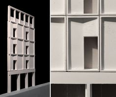 Mae gets into the RA Summer exhibition. This section shows our proposed 3:4:5 grid with profiled panels that cast shadow across the facade (photo mæ)