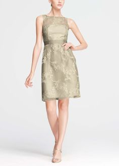 Short Sleeveless Organza Dress with Embroidery F15431