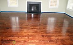 laying plywood floors, flooring, woodworking projects, The floors with six coats of polyurethane