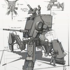 A 2017 Concept art kick off! - A version of the Star Wars Scout Walker Nave Star Wars, Star Wars Rpg, Star Wars Ships, Star Wars Clone Wars, Star Wars Concept Art, Robot Concept Art, Star Wars Fan Art, Images Star Wars, Star Wars Pictures