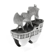 Pirate Ship Ring by nOir Jewelry -- yes, yes, YES...