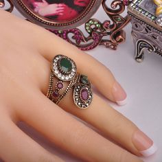 Day 365 New Arrival Exquisite Vintage Rings Turkish Jewelry Antique Gold Plated Spiral Charming Design Finger Ring Aneis Anel Like if you remember Visit us