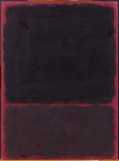 Mark Rothko - Untitled, 1967. Acrylic on paper mounted on masonite