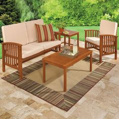 Inspiring Images Of Deck Furniture Layout For Your Inspiration : Cool Outdoor Living Room Decoration Using . Deck Furniture Layout, Patio Furniture For Sale, Outdoor Wood Furniture, Outdoor Coffee Tables, Outdoor Sofa, Outdoor Living, Outdoor Decor, Outdoor Ideas, Beach House Decor