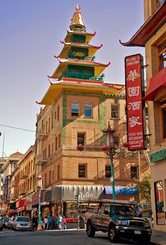 China Town, San Francisco, California. San Francisco Chinatown Established in the 1850s, San Francisco's Chinatown is the oldest Chinatown in North America. It is also the largest Chinese Community outside of Asia. It is one of the largest and most prominent centers of Chinese activity outside of China.Photo by Andy New.