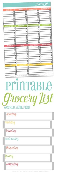 Printable Shopping List  Displaying Images For  Printable